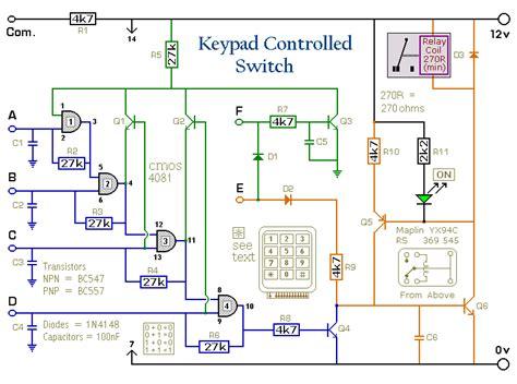 380 Tv Wiring Schematic by Schema Electronique Clavier Commutateur 4 Chiffres