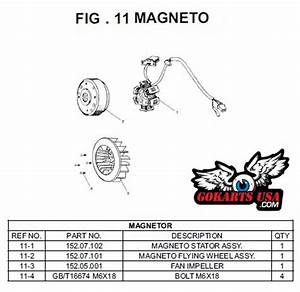 Magneto Fly Wheel Assy  For Trailmaster Gy6 150 Go Kart
