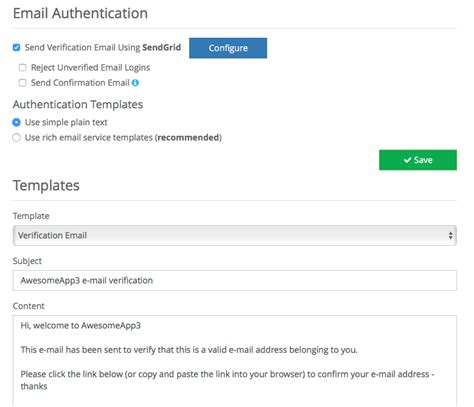 sendgrid templates email integration sendgrid braincloud api docs