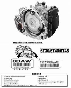 Transmission Repair Manuals Gm 6t45   6t50   6t30