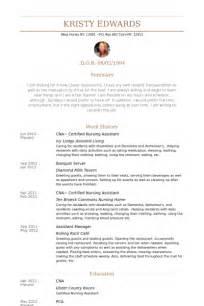 exle of a cna resume certified nursing assistant resume sles visualcv
