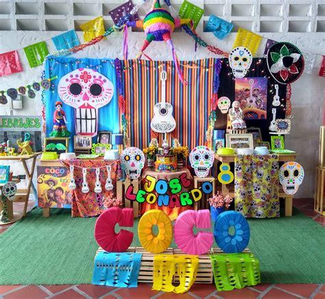 decoracion coco adornos para decorar una fiesta tematica de coco pixar
