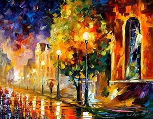 BEFORE SUNRISE — PALETTE KNIFE Oil Painting On Canvas By ...