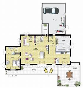 grande villa provencale detail du plan de grande villa With plan de grande maison