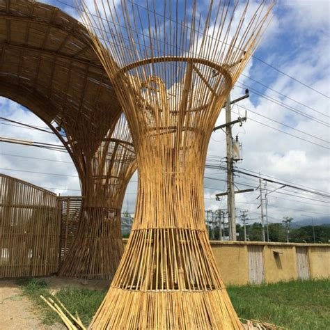 entrance gate  clc bamboo earth architecture