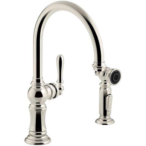 kitchen faucet spout kohler artifacts single handle kitchen faucet with swing