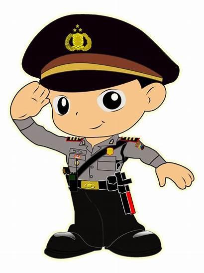 Pocil Polri Promoter Gambar Karikatur Polisi Kartun