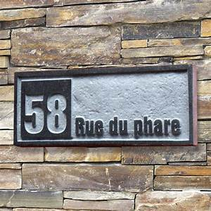 Plaque De Maison : plaque de maison en pierre votre plaque de maison ou num ro de rue en pierre naturelle applique1 ~ Teatrodelosmanantiales.com Idées de Décoration