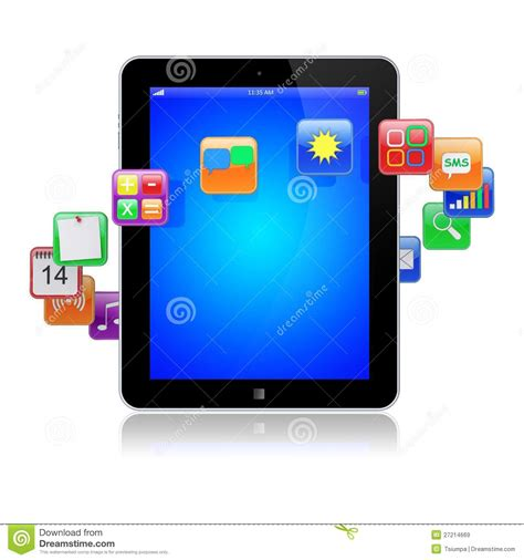 tablet pc apps icons royalty  stock images image