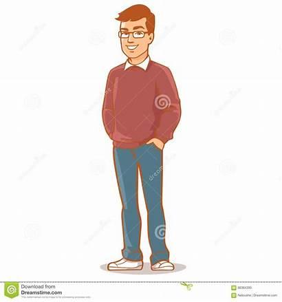 Father Vector Illustration Portrait Dad Cartoon Character