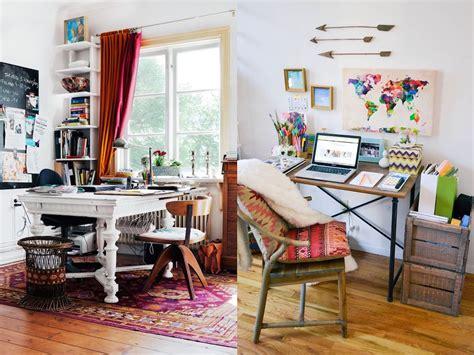 32 Inspiring Boho Chic Home Office Design Ideas