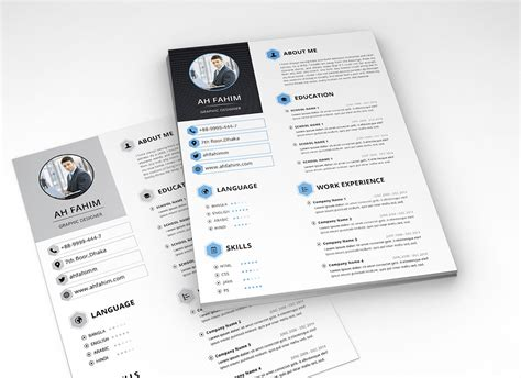 simple resume template  psd format good resume