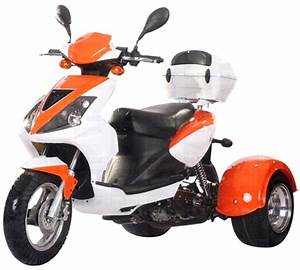 Ice Bear Sporty 50cc Motor Trike Moped Scooter Pst50