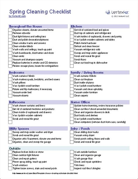 house cleaning checklist template house cleaning printable free house cleaning price list