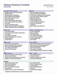 spring cleaning checklist template With maid checklist template