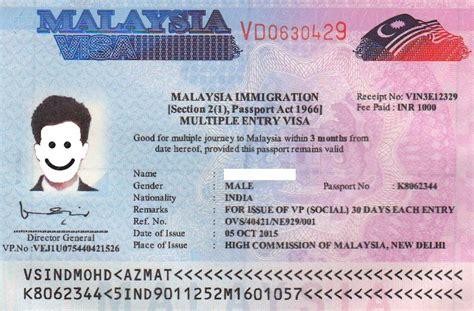 malaysia visa information types  visa