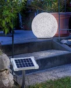 Solarkugel 40 Cm : solar kugelleuchte mega stone 50 cm mit farbwechsel ~ Watch28wear.com Haus und Dekorationen