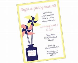 pinwheel flower wedding shower invitation printable pdf With email wedding shower invitations