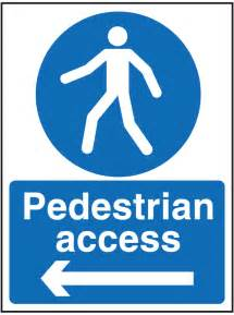 How To Lift Floor Boards by Pedestrian Access Left Sign