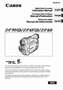 Canon Zr70mc Minidv Digital Camcorder With 25 Lcd Manual Pdf Canon  U2013 Diagramasde Com  U2013 Diagramas