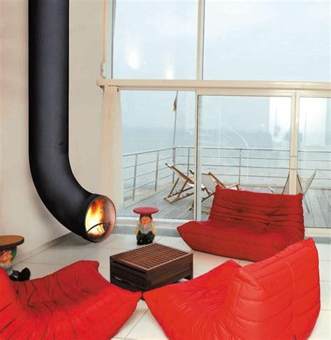 kaminofen wohnzimmer 20 einrichtungsideen für hängenden kaminofen im modernen haus