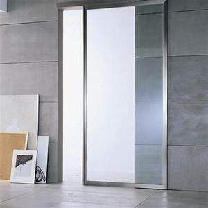 materiaux porte d39interieur bois alu ou verre With porte de garage coulissante avec porte en verre interieur