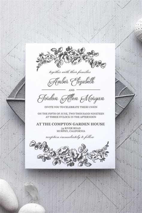 printable wedding invitation template rustic alchemie