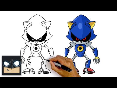 How To Draw Metal Sonic   Sonic The Hedgehog - Videos For Kids
