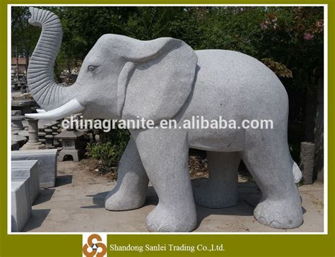 carved granite elephant statue for sale