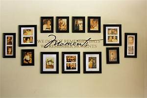 Diy photo wall ideas without frames : Family picture wall photo collages our
