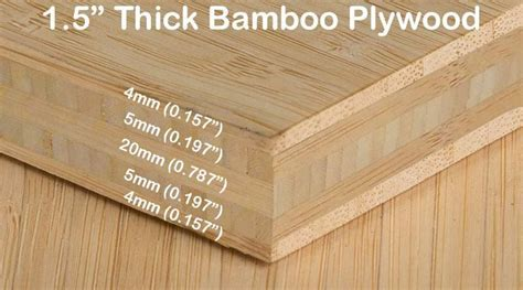 Bamboo Pywood   1 1/2 in Unfinished Natural Vertical