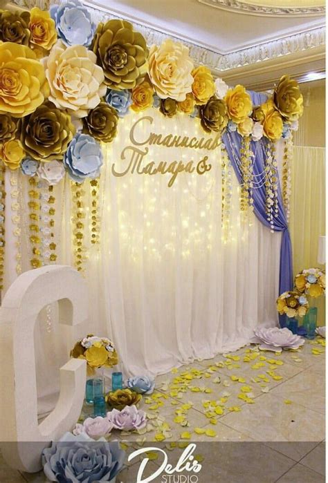 Diy Backdrop Decorations by Paper Flowers Backdrop Backdrop Paper Flowers Wedding
