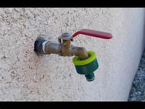 comment remplacer un robinet d39exterieur youtube With robinet d eau exterieur