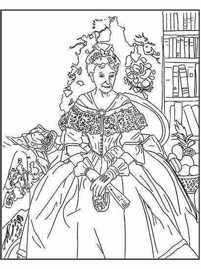 Coloring Pages Famous Printable Paintings Painting Gothic