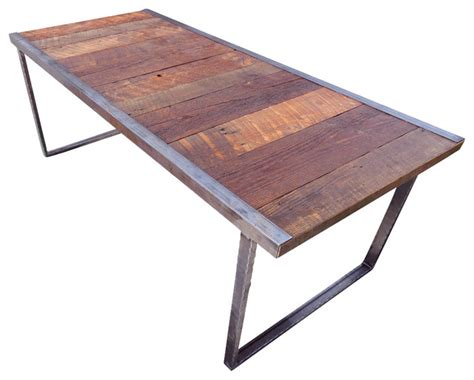 Outdoor Industrial Dining Table  Rustic  Patio Furniture