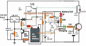2 Best 6v 4ah Automatic Battery Charger Circuits Using