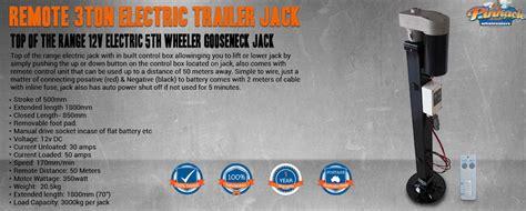 rototek fully remote controlled  electric  wheeler gooseneck jack