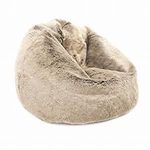 Pouf Fausse Fourrure : bean bag bazaar icon gros pouf fauteuil poire billes en fausse fourrure de vison ~ Teatrodelosmanantiales.com Idées de Décoration