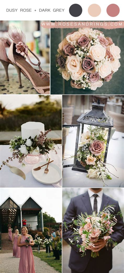 Top 9 Dusty Rose Wedding Color Palettes for 2020 Rose