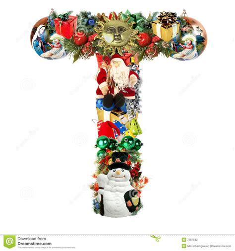 letter   christmas decoration stock illustration