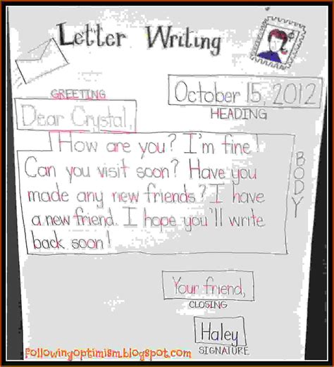 search results for letter writing template for kids