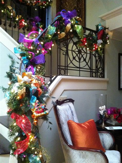 Christmas Decorations - Transitional - Staircase - San