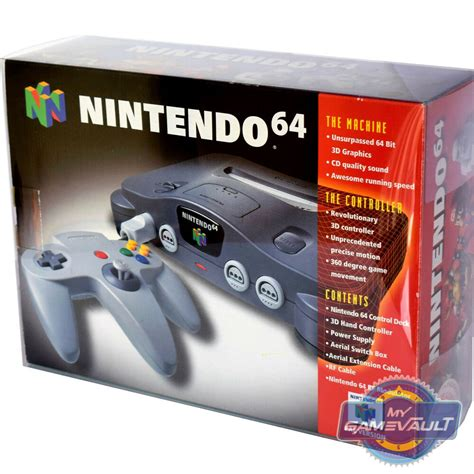 nintendo n64 console 1 x n64 nintendo 64 box protector for console strong 0 5mm