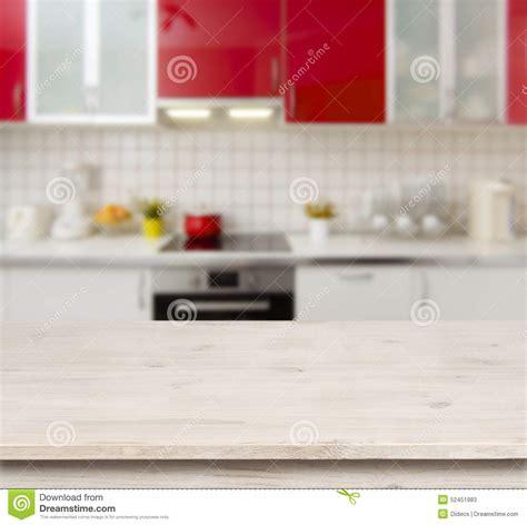 Banc D Intérieur by Cuisine Table En Bois Sur Le Fond Moderne D Int 195