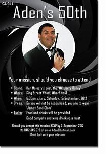Free Tea Party Invitations To Print Cu911 James Bond Themed Birthday Invitation Mens