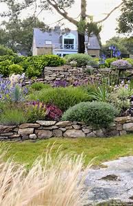 un jardin breton dagapanthes et dhortensias bleus du With awesome amenagement de jardin avec des pierres 0 des plantes pour les murets en pierres