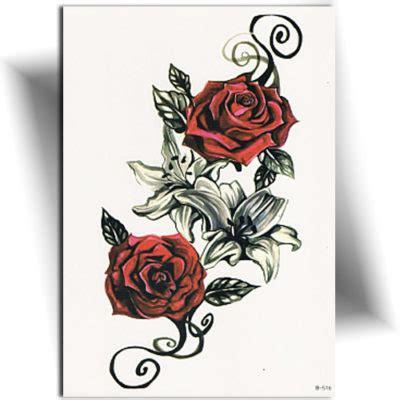Tatouage Rose Rouge  Fleur Archives  Tatouage éphémère