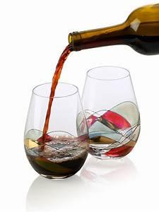 Bezrat, Stemless, Wine, Glasses, Set, Of, Two