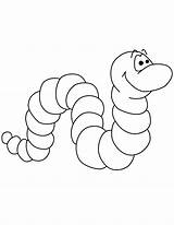 Worm Coloring Pages Printable Cute Worms Bookworm Cartoon Template Clip Templates Preschool Apple Sheets Vowels sketch template