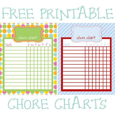 fridays freebie printable chore charts    mopping  floor